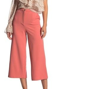 Good Luck Gem Pink Culotte High Waisted Pants $30